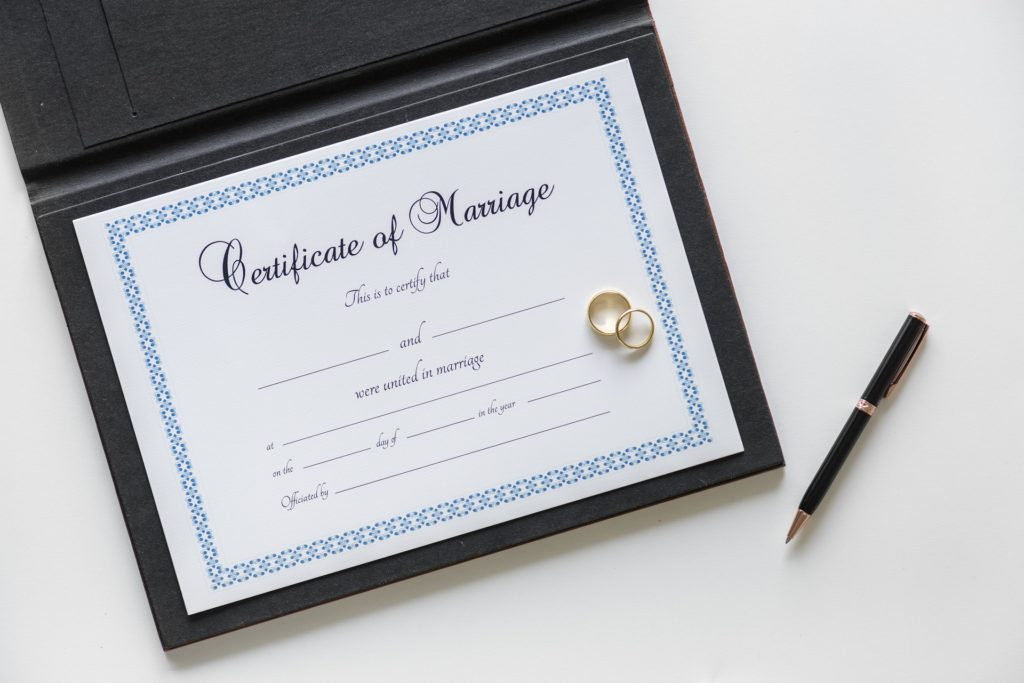 Certificate of Marriage Arizona